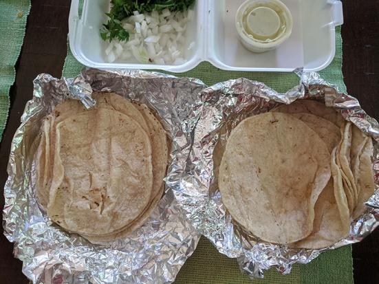 El Triunfo, Tortillas