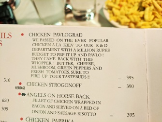 Mocambo, Menu, Chicken Pavlograd