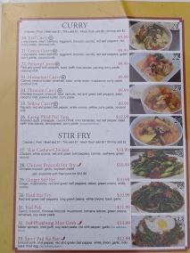 Thai Cafe, Menu, Curry, Stir-Fry