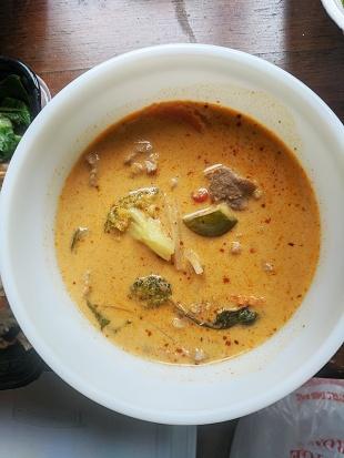 Thai Cafe, Red Curry, Pork