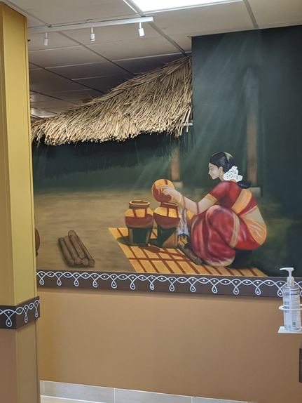 Godavari, Mural with Hand Sanitizer