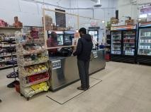 India Spice House, Socially-distanced cashier