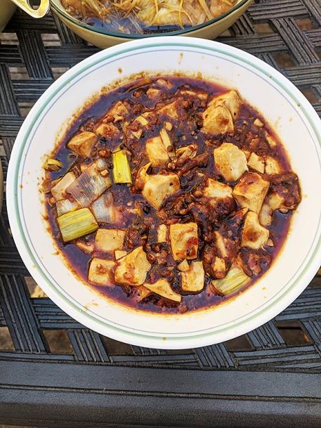 Szechuan Spice, Mapo Tofu, plated