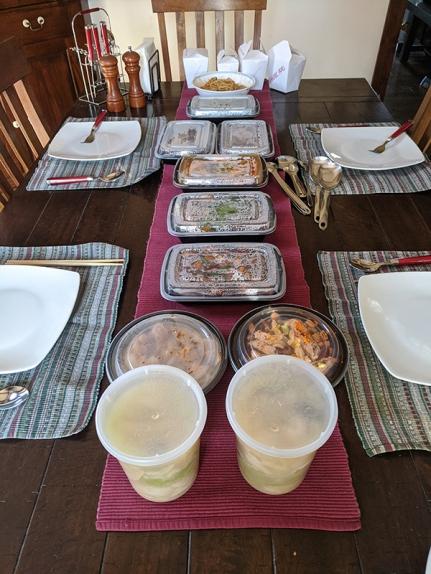 Grand Szechuan, The lunch spread