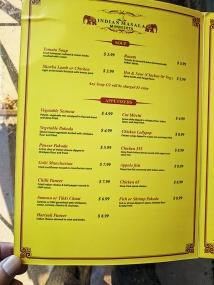 Indian Masala, Menu, Soup,, Appetizers