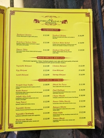 Indian Masala, Tandoori, Biryanis, Vegetables