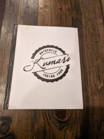 Kumar's, Menu