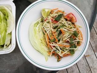 On's Kitchen, Papaya Salad, served