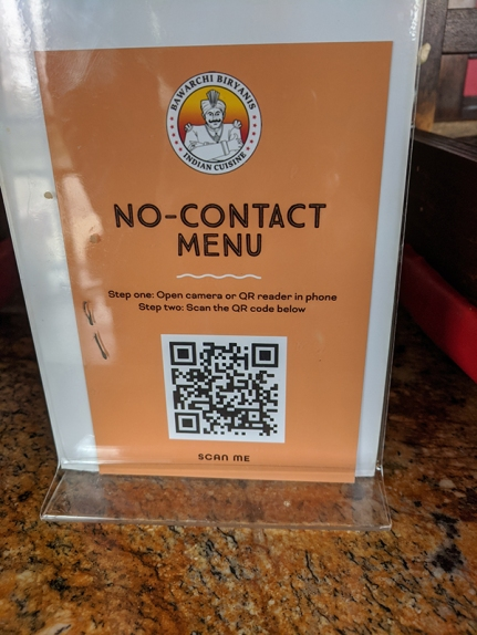 Bawarchi, No Contact Menu