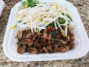 Cheng Heng, #12 Larb Salad, Roast Pork