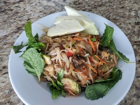 Cheng Heng, Papaya Salad, plated