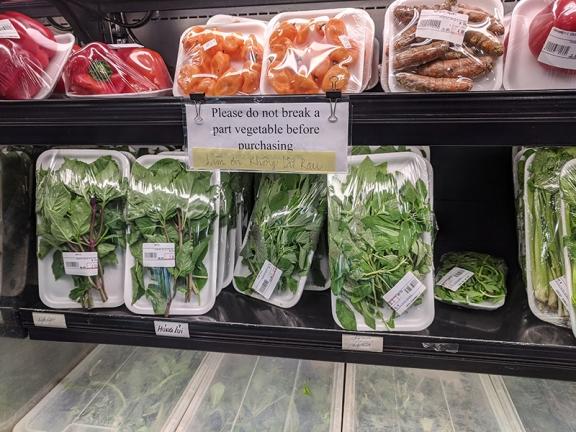 Saigon Asian Food Market, Please Do Not Break Apart Vegetable Before Purchasing