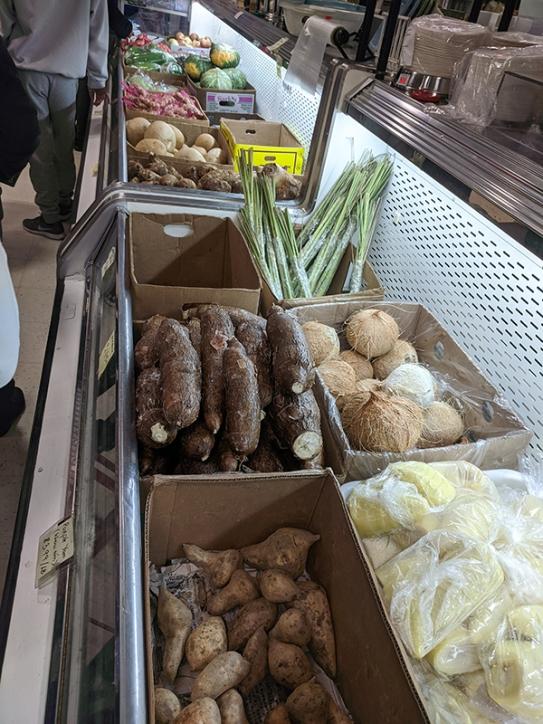 Saigon Asian Food Market, Yams, Taro, Coconut etc