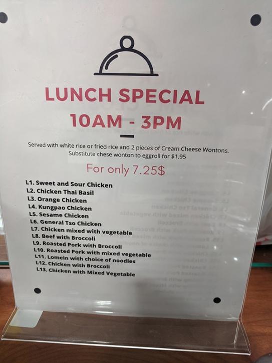 Saigon Deli, Lunch Special