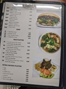 Saigon Deli, Menu, Banh Mi, Soup, Rice Platter