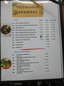 Saigon Deli, Menu, Vietnamese Noodles