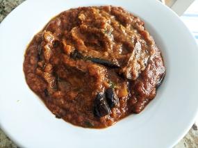 Kabob's, Fried Eggplant Curry, reheated