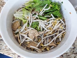 Bangkok Thai Deli, Boat Noodles, topped
