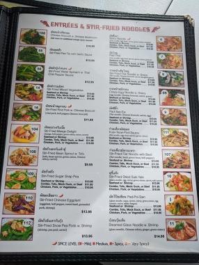 Bangkok Thai Deli, Menu, Entrees & Stir-Fried Noodles