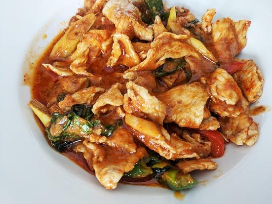 Bangkok Thai Deli, Thick Curry closeup