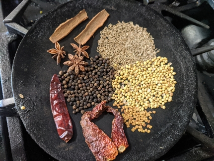 Curry 2, spices being toasted