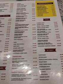 Godavari, Menu, Meats, Seafood, Tandoor, Roti Basket