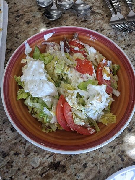 Gyros Grill, Salad