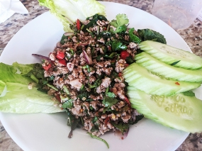 Thai Cafe, Larb served