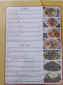 Thai Cafe, Menu, Curry, Stir-Fry