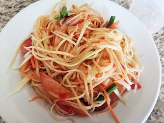Thai Cafe, Papaya Salad served