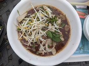Basil Cafe, Boat Noodles, Toppings go on