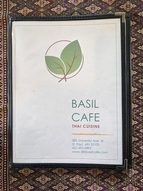 Basil Cafe, Menu