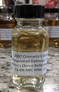 Cromarty's Firth:Dalmore 13, 2007, Hepburn's Choice