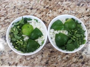 Homi, Limes, garnishes