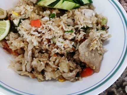 On's Kitchen, Fried rice, closeup