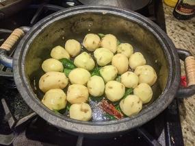 Potatoes go in