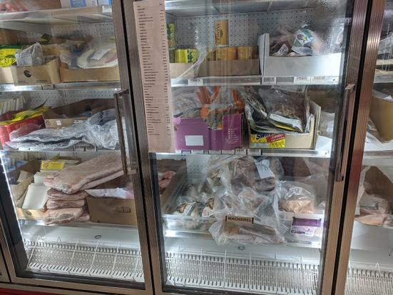 Asian Mart, Aisle 1, Frozen fish etc