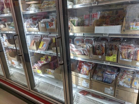 Asian Mart, Aisle 1, Lots of pork