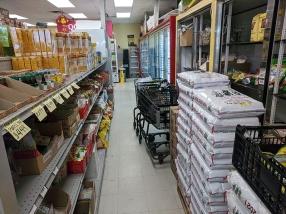 Asian Mart, Aisle 1, Rice, Frozen meat etc