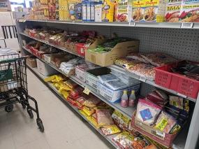 Asian Mart, Aisle 2, Bread crumbs, peanuts, flour mixes etc