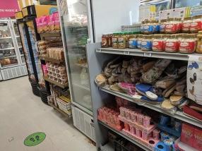 Asian Mart, Aisle 2, Snacks, slippers, spreads