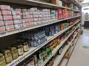 Asian Mart, Aisle 3, Canned fish etc