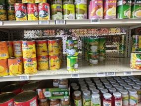 Asian Mart, Aisle 3, Canned jackfruit etc