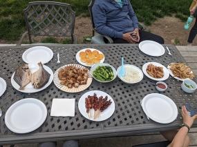 Asian Mart, Dinner on the deck