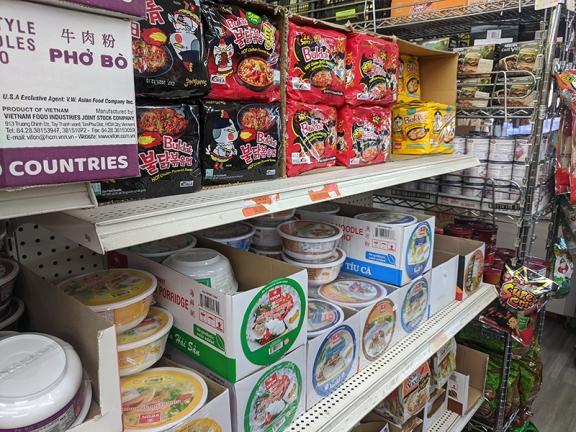Chan Oriental Market, Very important Korean ramen