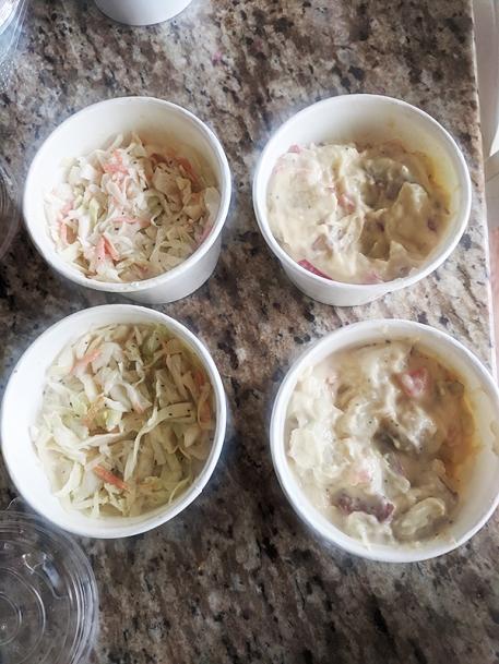 Firebox, Cole Slaw, Potato Salad