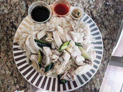 Peninsula, Hainanese Chicken Rice assembled