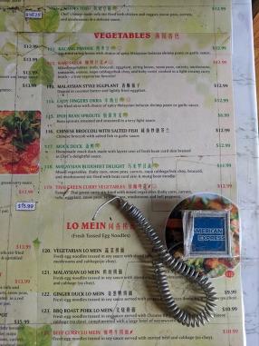 Peninsula, Menu, Vegetables, Lo Mein