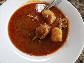 Peninsula, Roti canai chicken curry reheated