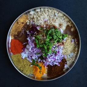 Bharli Vangi, Wet ingredients added